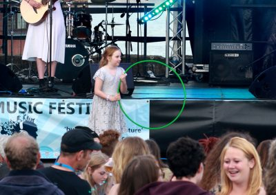 Ella Squirrell with audience Big Mix