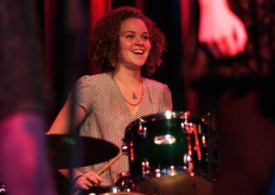Ella Squirrel drumming