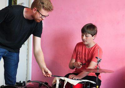 Matt with drummer