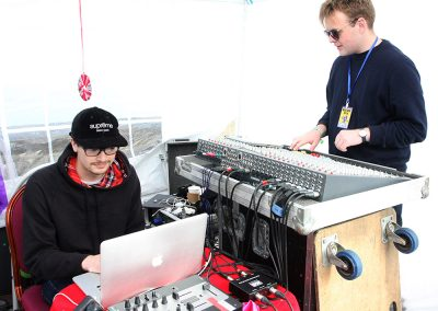 Will and Dom at the Mixing Desk