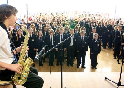Music in School Assembly