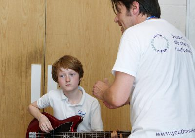 Bass Guitar Music Leader and Student