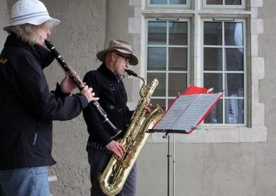 Bass Sax and Clarinet