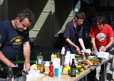 Mark Hix Cooking Pete Helping