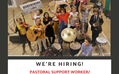 We're Hiring … B Sharp Pastoral Support Worker/Learning and Support Assistant
